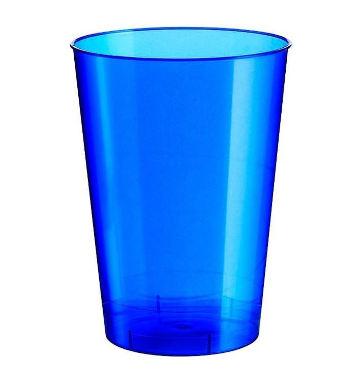Vaso de Plastico Moon Azul Pearl PS 230ml (1000 Uds)