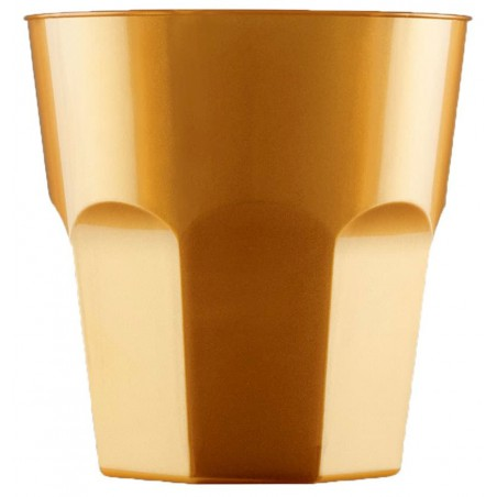 Vaso Plastico para Cocktail Oro PS Ø73mm 220ml (50 Uds)