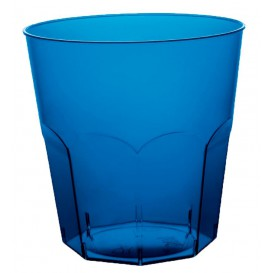 Vaso Plastico Cocktail Azul Transp. PS  Ø73mm 220ml (500 Uds)