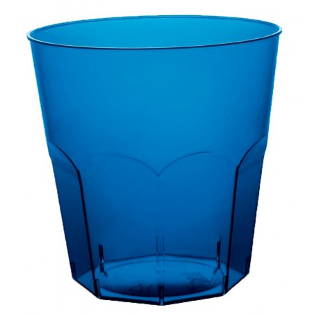 Vaso Plastico Azul Transp. PS Ø73mm 220ml (500 Uds)