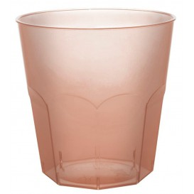 Vaso Plastico Marron Transp. PS Ø73mm 220ml (50 Uds)