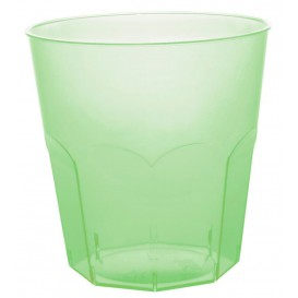 Vaso Plastico Verde Lima Transp. PS Ø73mm 220ml (500 Uds)