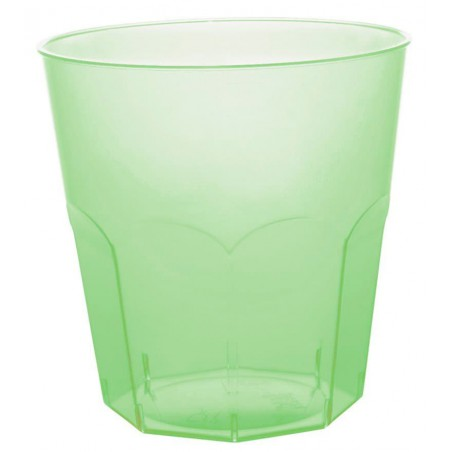Vaso Plastico Verde Lima Transp. PS Ø73mm 220ml (50 Uds)