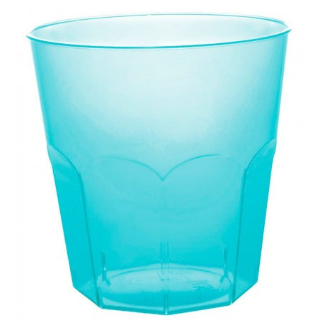 Vaso Plastico Turquesa Transp. PS Ø73mm 220ml (1000 Uds)