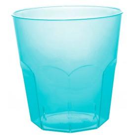 Vaso Plastico Turquesa Transp. PS Ø73mm 220ml (50 Uds)
