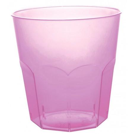 Vaso Plastico Lila Transp. PS Ø73mm 220ml (1000 Uds)