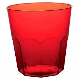 Vaso Plastico Rojo Transp. PS Ø73mm 220ml (500 Uds)