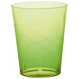 Vaso de Plastico Moon Verde Lima Transp. PS 350ml (200 Uds)