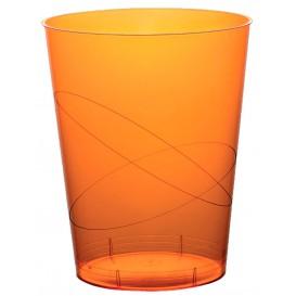 Vaso de Plastico Moon Naranja Transp. PS 350ml (200 Uds)
