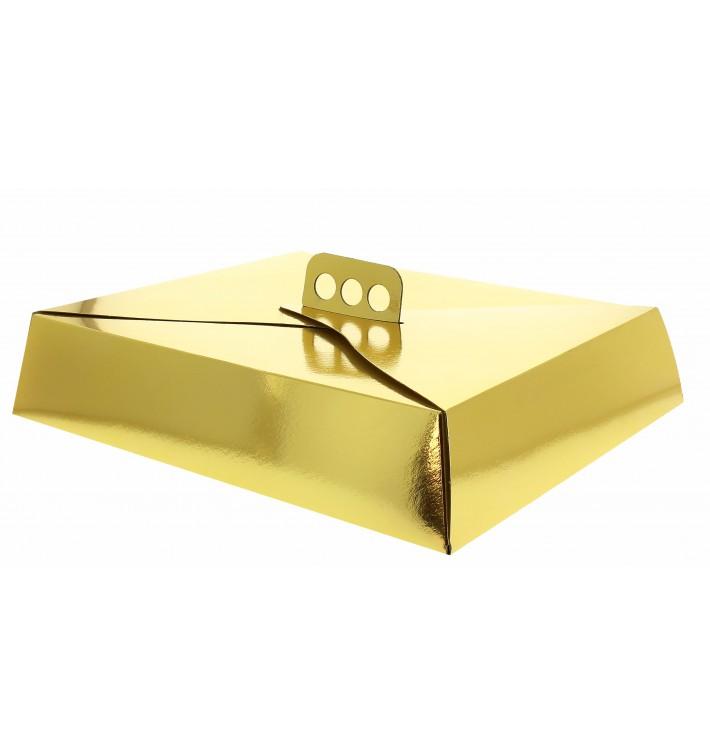 Cajas de Cartón para Tartas Oro 23,5x30 cm (50 Uds)