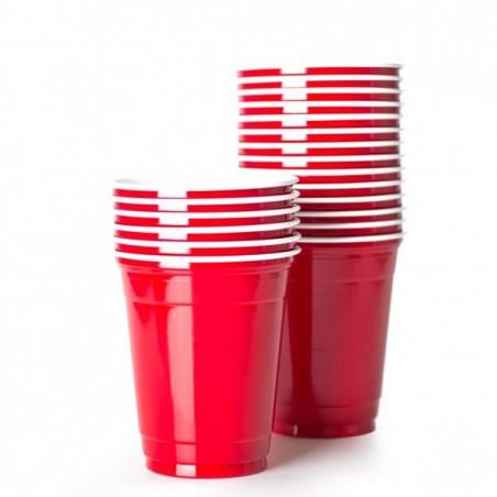 Vaso Rojo Americano para Fiestas 470ml (50 Uds)