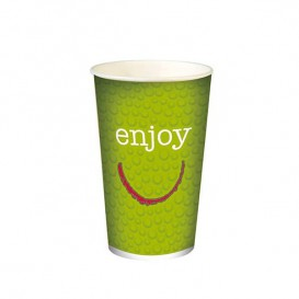"Vaso Cartón 16 Oz/500 ml ""Enjoy"" Ø9,0cm (1000 Uds)"