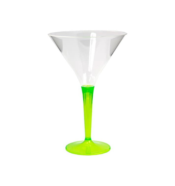 Copa de Plastico Cocktail Pie Verde 100 ml (48 Uds)