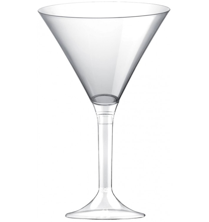 Copa de Plastico Cocktail con Pie Transparente 185ml (20 Uds)
