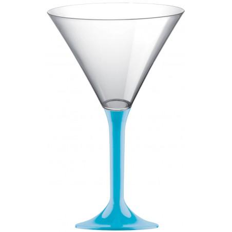 Copa Plastico Cocktail Pie Turquesa 185ml 2P (200 Uds)