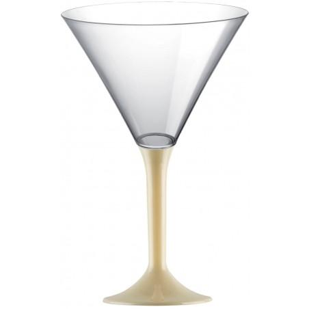 Copa de Plastico Cocktail con Pie Crema 185ml (20 Uds)