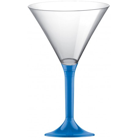 Copa Plastico Cocktail Pie Azul Transp. 185ml 2P (200 Uds)