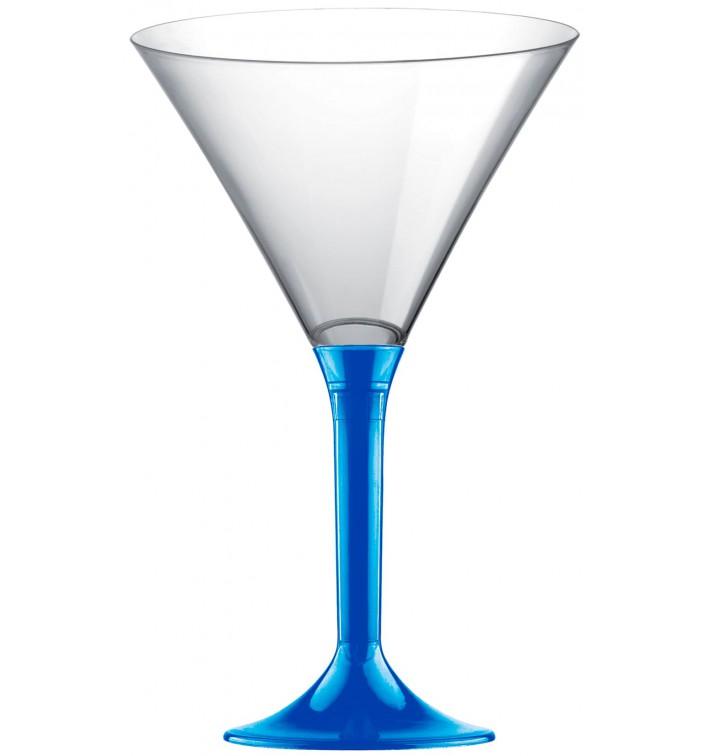 Copa de Plastico Cocktail con Pie Azul Mediterraneo 185ml (200 Uds)