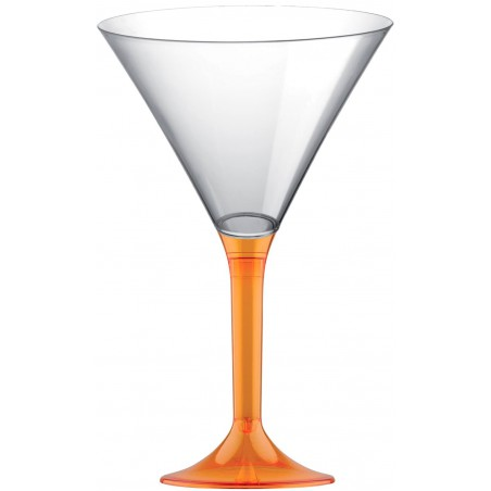 Copa Plastico Cocktail Pie Naranja Transp. 185ml 2P (200 Uds)