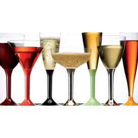 Copa de Plastico Cocktail con Pie Oro Cromado 185ml (200 Uds)