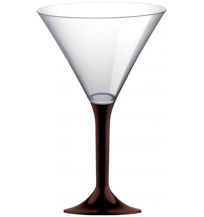 Copa de Plastico Cocktail con Pie Marron 185ml (200 Uds)
