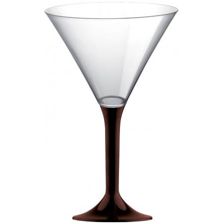 Copa Plastico Cocktail Pie Marron 185ml 2P (200 Uds)