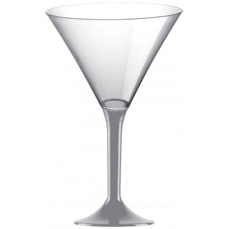 Copa Plastico Cocktail Pie Gris 185ml 2P (200 Uds)