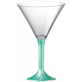 Copa de Plastico Cocktail con Pie Tiffany Perlado 185ml (20 Uds)