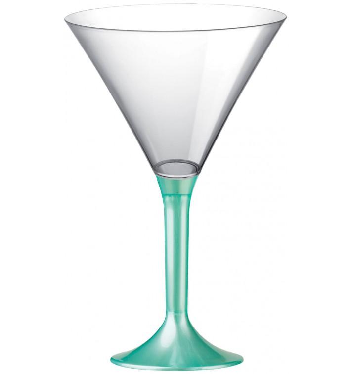 Copa de Plastico Cocktail con Pie Tiffany Perlado 185ml (20 Uds)