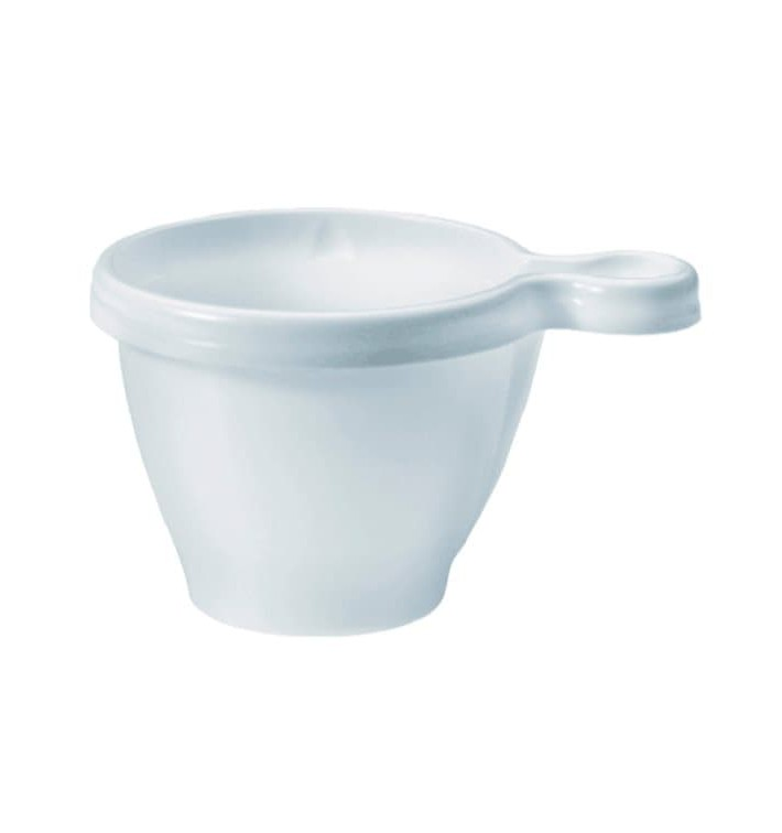 Taza de Plastico PS Blanco 80ml (50 Unidades)