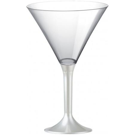 Copa Plastico Cocktail Pie Blanco Perlado 185ml 2P (20 Uds)