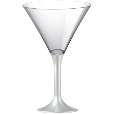 Copa Plastico Cocktail Pie Blanco Perlado 185ml 2P (200 Uds)