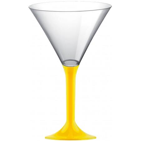 Copa Plastico Cocktail Pie Amarillo 185ml 2P (20 Uds)