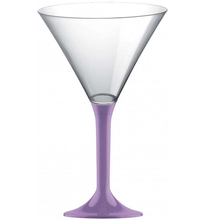 Copa de Plastico Cocktail con Pie Lila 185ml (200 Uds)