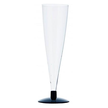 Copa de Plastico para Cava Pie Negro 150ml 2P (432 Unidades)