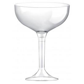 Copa de Plastico Champan con Pie Transparente 200ml (20 Uds)