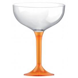 Copa Plastico Champan Pie Naranja Cristal 200ml 2P (200 Uds)