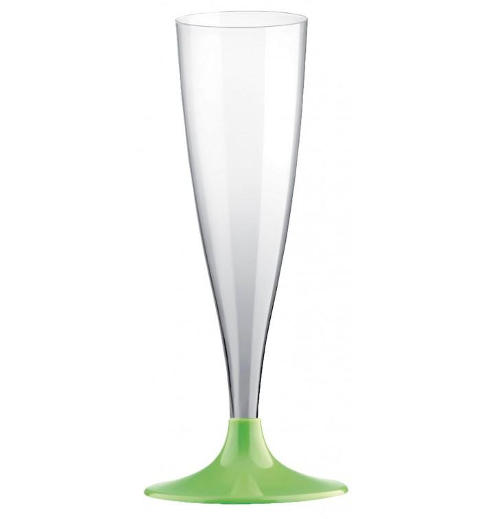 Copa Plastico Cava Pie Verde Lima 140ml 2P (20 Uds)