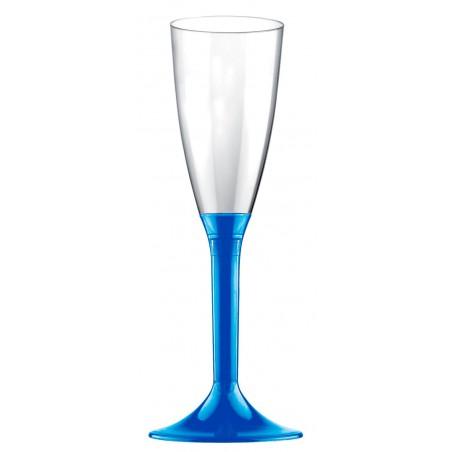 Copa Plastico Cava Pie Azul Mediterraneo 120ml 2P (20 Uds)