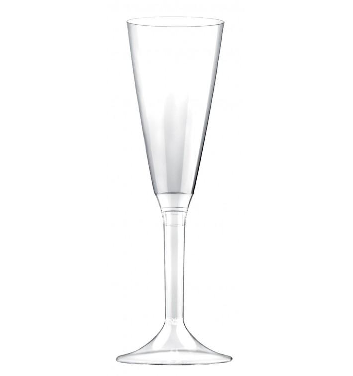 Copa de Plastico Cava con Pie Transparente 160ml (20 Uds)