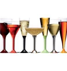 Copa de Plastico Vino Transparente 130ml (10 Uds)