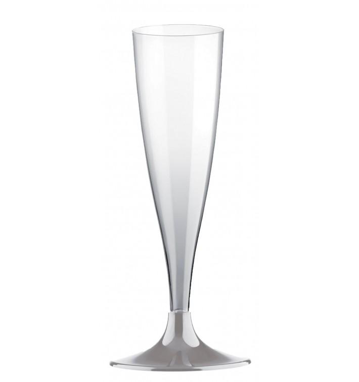 Copa de Plastico Cava con Pie Gris 140ml (200 Uds)