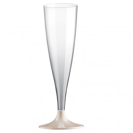 Copa de Plastico Cava con Pie Crema 140ml (200 Uds)