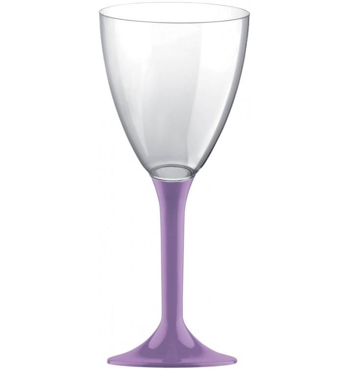 Copa Plastico Vino Pie Lila 180ml 2P (200 Uds)