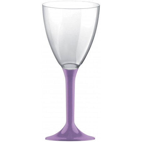Copa de Plastico Vino con Pie Lila 180ml (200 Uds)