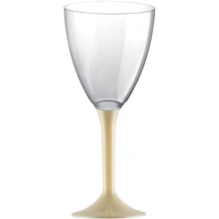 Copa Plastico Vino Pie Crema 180ml 2P (20 Uds)