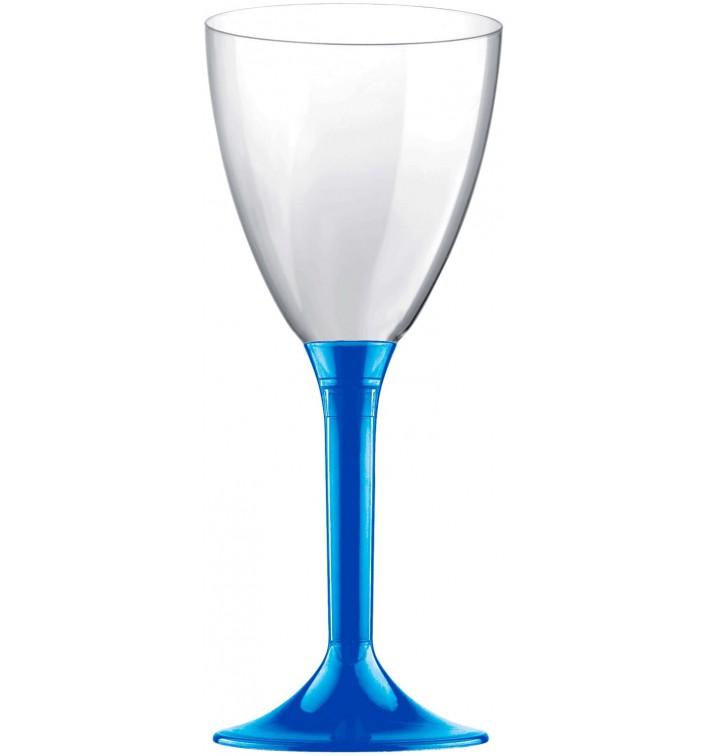 Copa Plastico Vino Pie Azul Mediterraneo 180ml 2P (20 Uds)