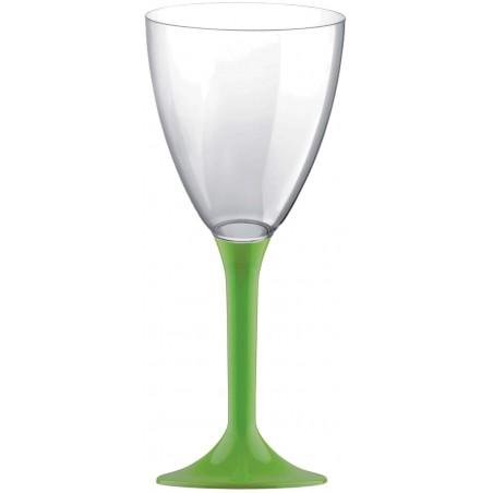 Copa de Plastico Vino con Pie Verde Lima 180ml (200 Uds)