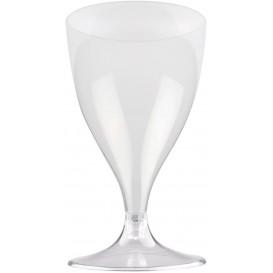 Copa Plastico Vino Pie Transparente 200ml 2P (400 Uds)