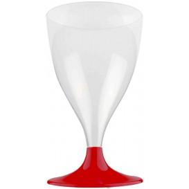 Copa de Plastico Vino con Pie Burdeos 200ml (20 Uds)